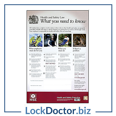 KMAS4773 HSE01 Health & Safety Poster 800mm x 600mm PVC Sign