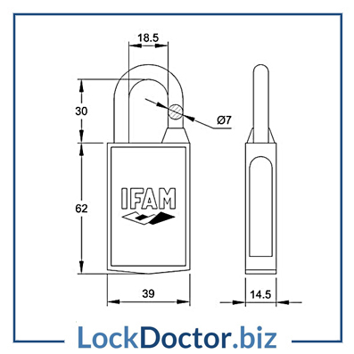 KMIPMAG40 Ifam Magnetic 40mm Padlock TECHNICAL kmipmag40 ifam magnetic 40mm padlock lock doctor padlock diagram at crackthecode.co