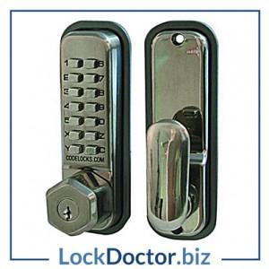 KML12173 - CODELOCKS CL255KO Series Digital Lock With Key Override