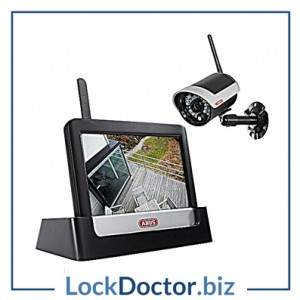 KML21992 ABUS TVAC16000B Wireless IR Outdoor 7 Inch Touchscreen CCTV Kit