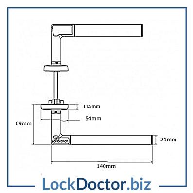 UNION E1200 Codehandle Battery Operated Digital Lock