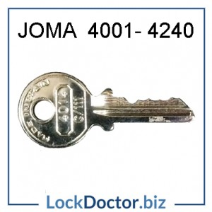 JOMA Cash Box Key 4001-4240