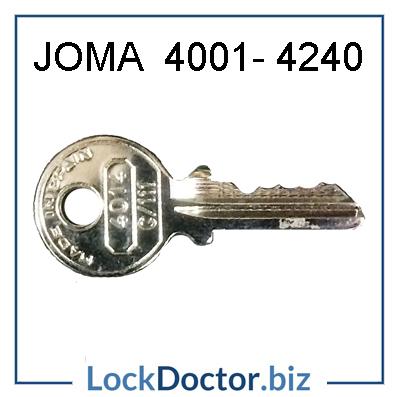 JOMA Cash Box Key 4001-4240