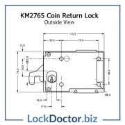 KM2765 Outside View COIN LOCK Technical Details
