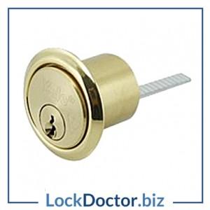 KMYLX5PB YALE X5 BRITISH STANDARD Rim Cylinder Polished Brass