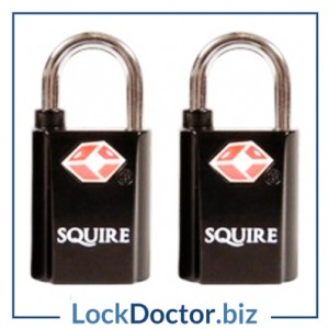 KMTSA20 Pair of SQUIRE 20mm TSA Approved Padlocks Keyed Alike