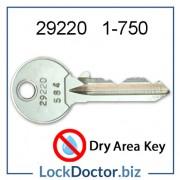 29220 ASSA locker key range 1 to 750 replacement Dry Area LINK ASSA Abloy locker keys available next day
