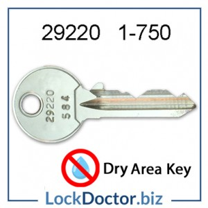 29220 ASSA locker key range 1 to 750 replacement Dry Area LINK ASSA Abloy locker keys available next day