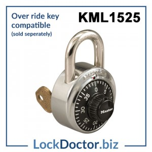 KML1525 Master Lock Combination Padlocks compatible with override key available from lockdoctor
