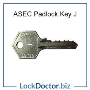 ASEC Padlock Key J
