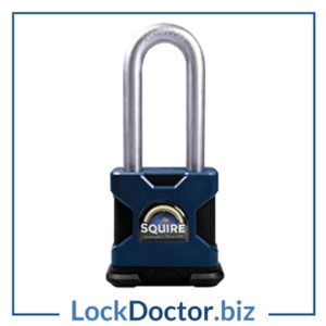 KML11065 SQUIRE SS50S 2.5 Stronghold Steel 6 Pin Long Shackle Padlock