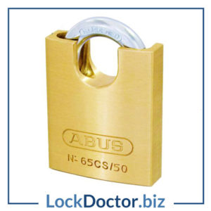 KML19113 ABUS 65 Series Brass Closed Shackle Padlock