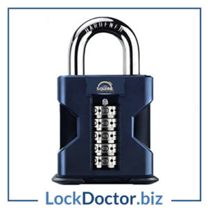 KML21684 SQUIRE SS50 Stronghold Open Shackle Recodable Combination Padlock